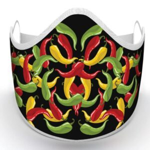 hot chili pepper face mask protection covid